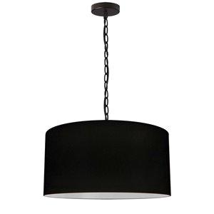 Luminaire suspendu transitionnel noir Braxton par Dainolite de 20 po