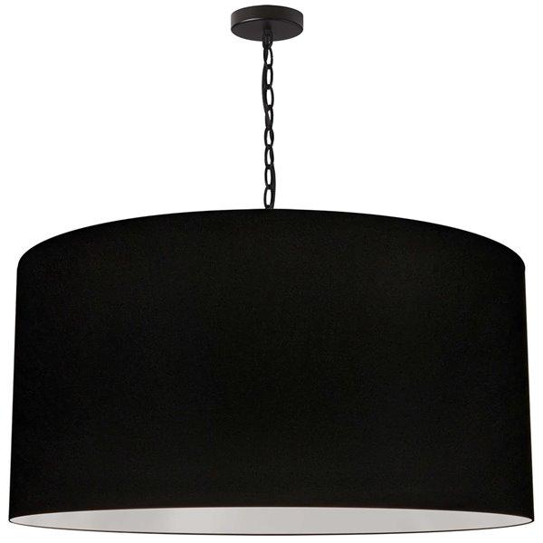 Luminaire suspendu transitionnel noir Braxton par Dainolite de 32 po