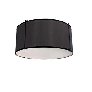 Plafonnier Trapezoid de 12 po de style moderne/contemporain noir à ampoule à incandescence de Dainolite