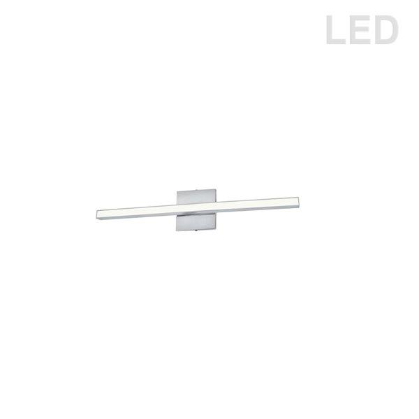 Luminaire pour meuble-lavabo moderne à 1 lumière de 23,8 po Arandel par Dainolite, chrome poli