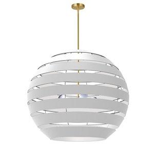 Lustre blanc moderne/contemporain à 4 lumières Hula par Dainolite