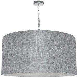 Luminaire suspendu transitionnel gris pâle Braxton par Dainolite de 32 po