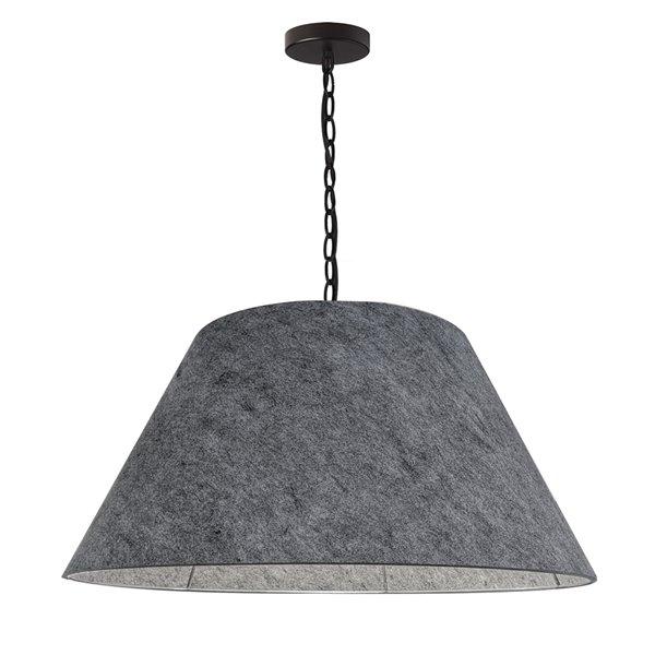 Luminaire suspendu transitionnel gris Brynn par Dainolite de 26 po