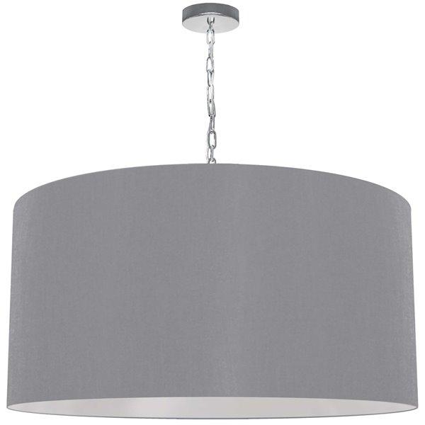 Luminaire suspendu transitionnel gris Braxton par Dainolite de 32 po