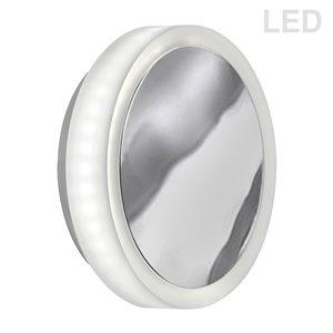 Applique murale Topaz de 1,5 po L en chrome poli de style moderne à 1 ampoule DEL de Dainolite