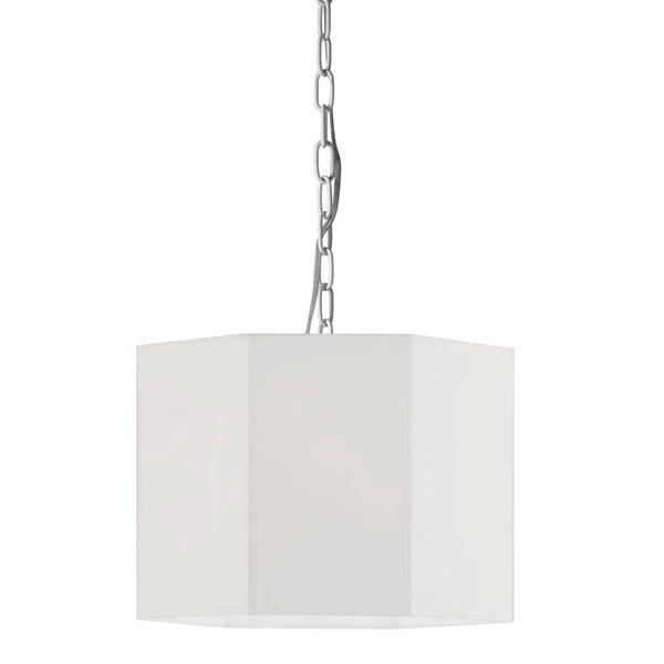 Luminaire suspendu transitionnel blanc Octavia par Dainolite de 16 po