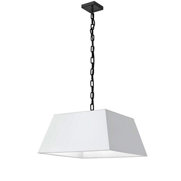 Luminaire suspendu moderne/contemporain blanc et noir Milano par Dainolite de 20 po