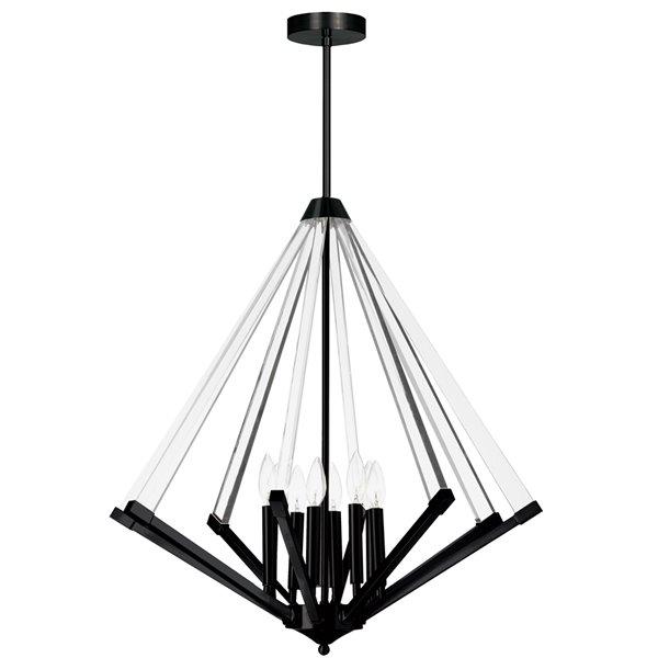 Lustre moderne/contemporain Aalto noir mat à 8 lumières par Dainolite