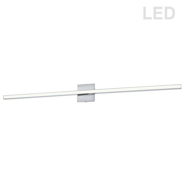 Luminaire pour meuble-lavabo moderne à 1 lumière de 47,5 po Arandel par Dainolite, chrome poli