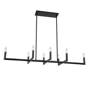 Lustre moderne/contemporain Nora noir mat à 8 lumières par Dainolite