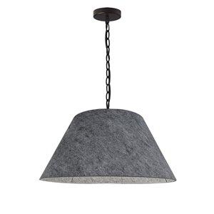 Luminaire suspendu transitionnel gris Brynn par Dainolite de 15 po