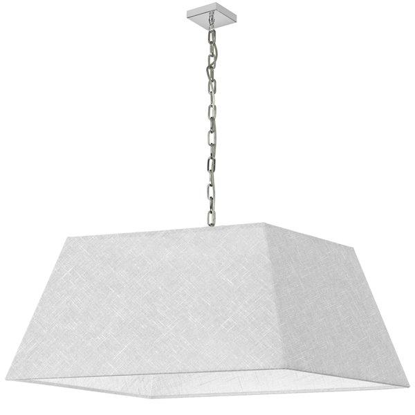 Luminaire suspendu moderne/contemporain blanc Milano par Dainolite de 32 po
