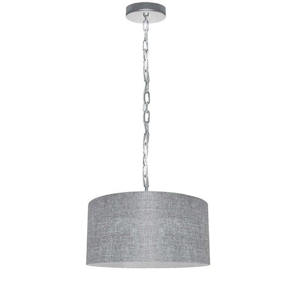 Luminaire suspendu transitionnel gris pâle Braxton par Dainolite de 14 po