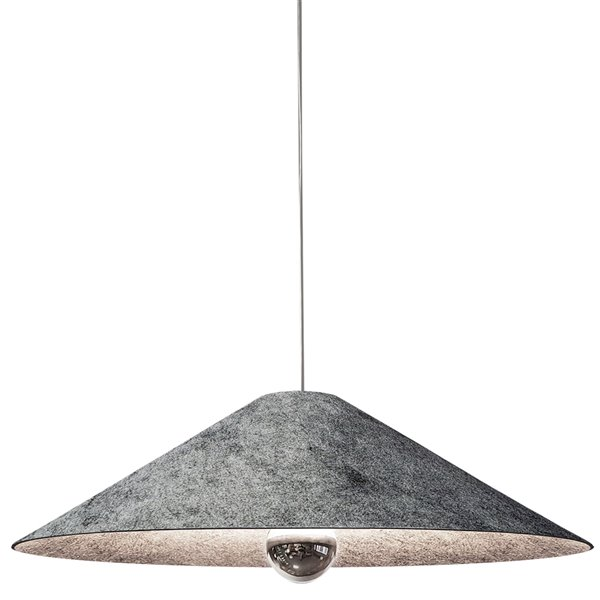 Luminaire suspendu moderne/contemporain gris Jessica par Dainolite de 24 po