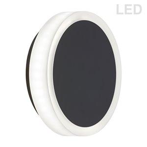 Applique murale Topaz de 1,5 po L noire mate de style moderne à 1 ampoule DEL de Dainolite