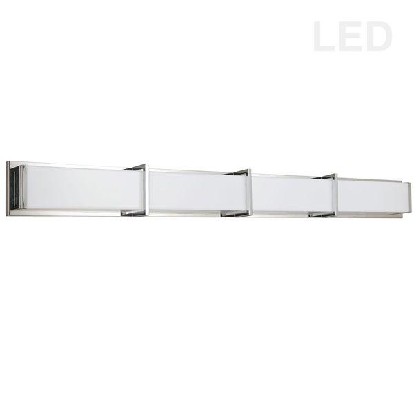 Luminaire chromé pour meuble-lavabo moderne à 1 lumière Winston par Dainolite de 46,25 po