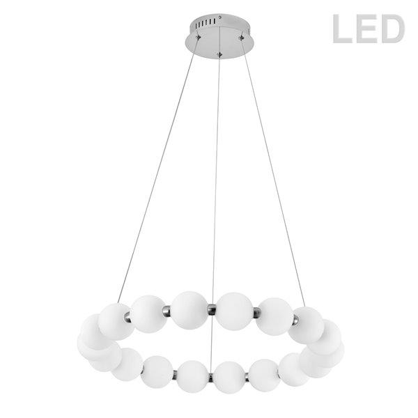 Lustre moderne/contemporain Shelby blanc à 1 lumières par Dainolite