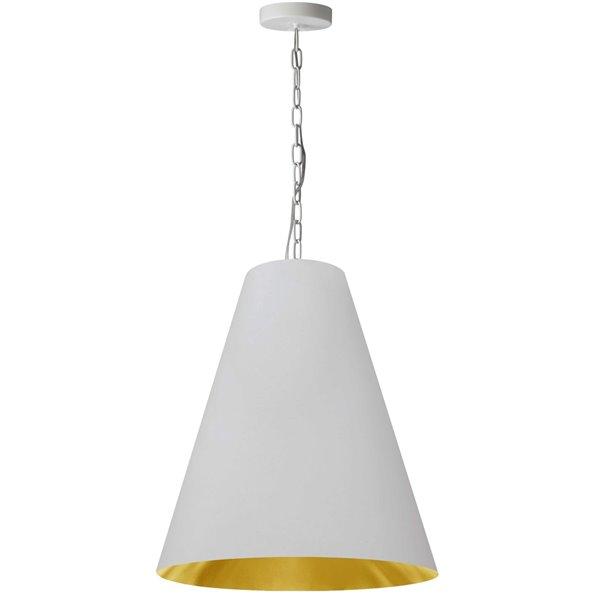 Luminaire suspendu transitionnel blanc et doré Anaya par Dainolite de 20 po