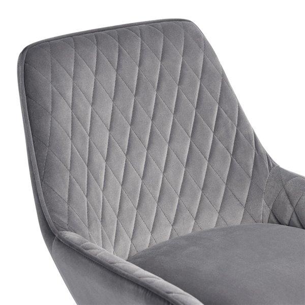 Tabouret de bar Rabiot gris à hauteur de bar (27 po à 35 po) par FurnitureR, ens. de 2
