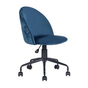 FurnitureR Romba Blue Contemporary Ergonomic Adjustable Height Swivel Desk Chair