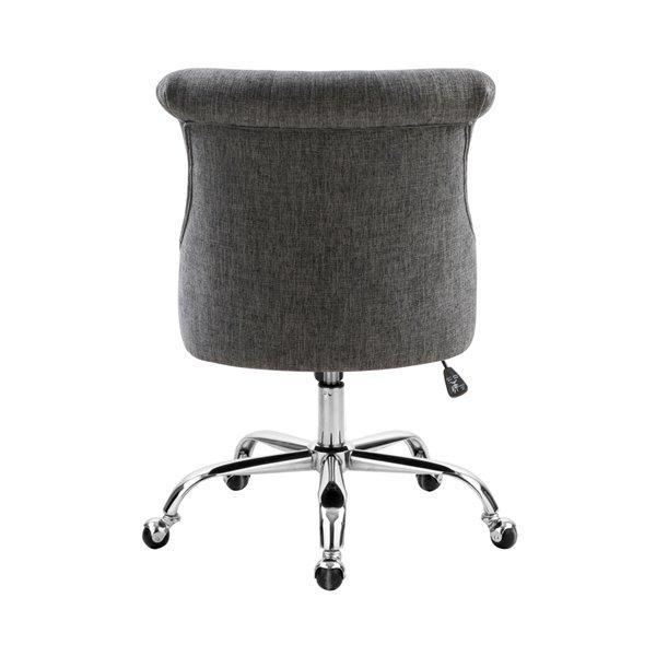 Chaise de bureau pivotante contemporaine et ergonomique avec hauteur réglable Bowden de FurnitureR, gris