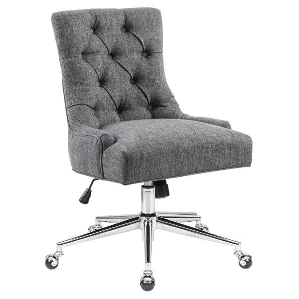 Chaise de bureau pivotante contemporaine et ergonomique avec hauteur réglable Chaden de FurnitureR, gris