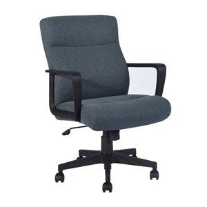 Chaise de bureau pivotante contemporaine et ergonomique avec hauteur réglable Paco de FurnitureR, gris