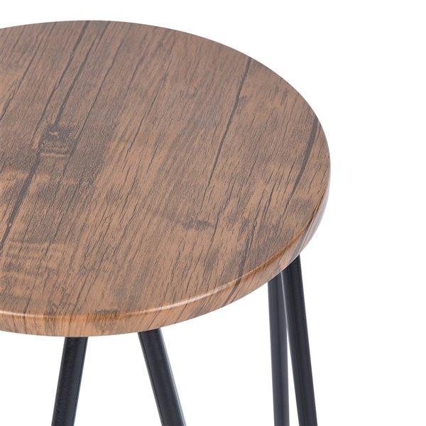 Tabouret de bar Essia brun à hauteur de comptoir (22 po à 26 po) par FurnitureR, ens. de 2