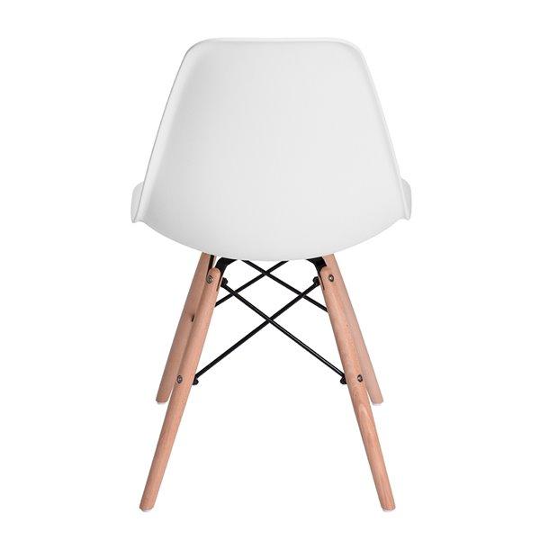 Chaise d'appoint contemporaine Rico de FurnitureR, cadre en métal, blanc, 6 pièces