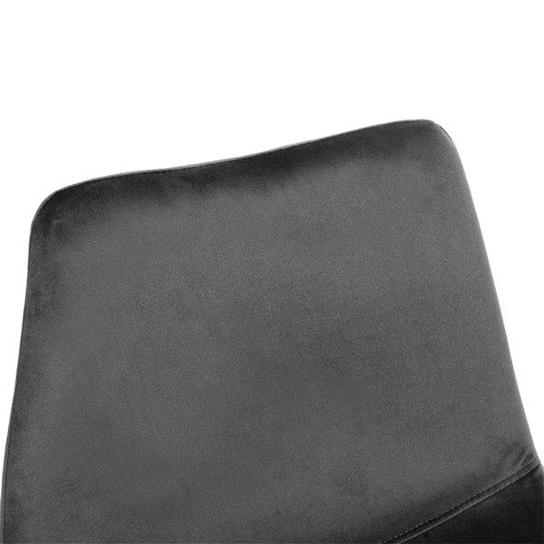 Tabouret de bar rembourré Batassel gris par FurnitureR à hauteur de comptoir (22 po à 26 po), ens. de 2