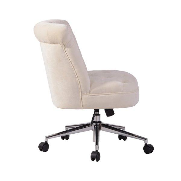 Chaise de bureau pivotante contemporaine et ergonomique avec hauteur réglable Jaren de FurnitureR, beige