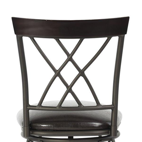 Tabouret de bar pivotant rembourré Wichita noir à hauteur de bar (27 po à 35 po) par FurnitureR, ens. de 2