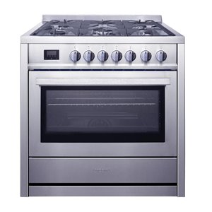 """Ancona - 36"""" 3.8 cu. ft. Gas Range with 5 Burners and Convection Oven"""