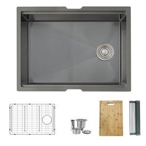 Évier de cuisine simplee Versa de Stylish, sous-comptoir, 25 po x 19 po