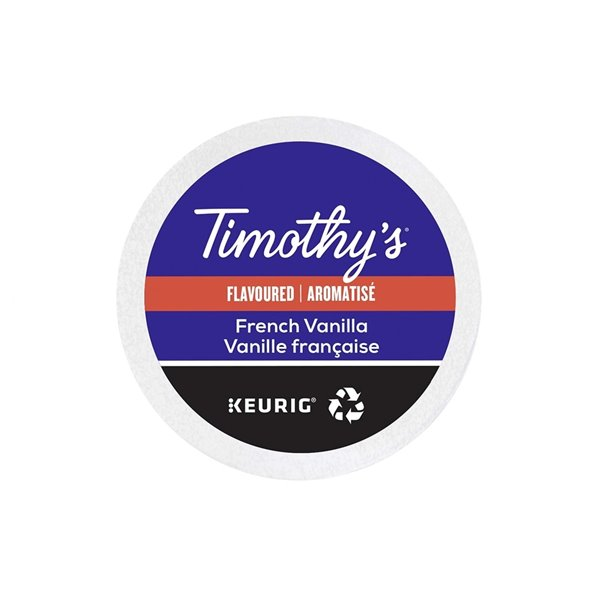 Ensemble de 96 capsules de café K-Cup par Keurig de Vanille française de Timothy's