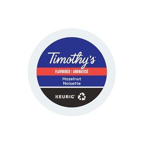 Ensemble de 96 capsules de café K-Cup par Keurig de Noisette de Timothy's