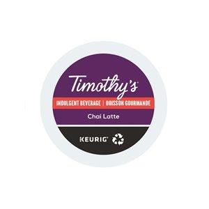 Ensemble de 96 capsules de café K-Cup par Keurig de Chai latte de Timothy's