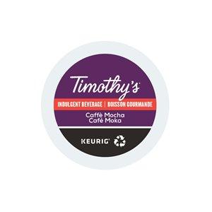 Ensemble de 96 capsules de café K-Cup par Keurig de Café moka de Timothy's