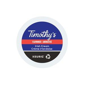 Ensemble de 96 capsules de café K-Cup par Keurig de Crème Irlandaise de Timothy's