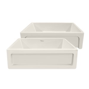 Whitehaus Collection Glencove Undermount Apron Front/Farmhouse 33-in x 20-in Biscuit Single Bowl Kitchen Sink