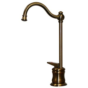 Whitehaus Collection Point Of Use 1-handle Deck Mount Low-Arc Handle/Lever Residential Kitchen Faucet (Antique Brass)