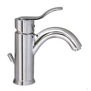 Whitehaus Collection Galleryhaus Polished Chrome 1-handle Single Hole Bathroom Sink Faucet Drain Included