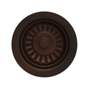 Whitehaus Collection 3.5-in Mahogany Bronze Stainless Steel Rust Resistant Strainer Basket with Lock Mount Included