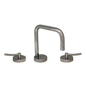 Whitehaus Collection Metrohaus Polished Chrome 2-handle Widespread Bathroom Sink Faucet - Drain Included