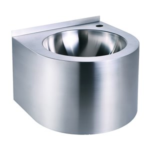 Whitehaus Collection Noah Collection Stainless Steel Wall-mount Round Bathroom Sink ( 15.75-in x 15.75-in )
