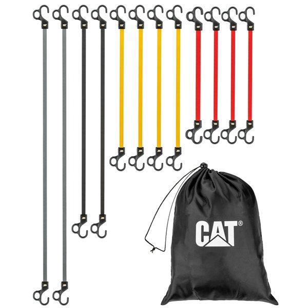 Sangles élastiques de Cat, differentes longueurs, paquet de 12