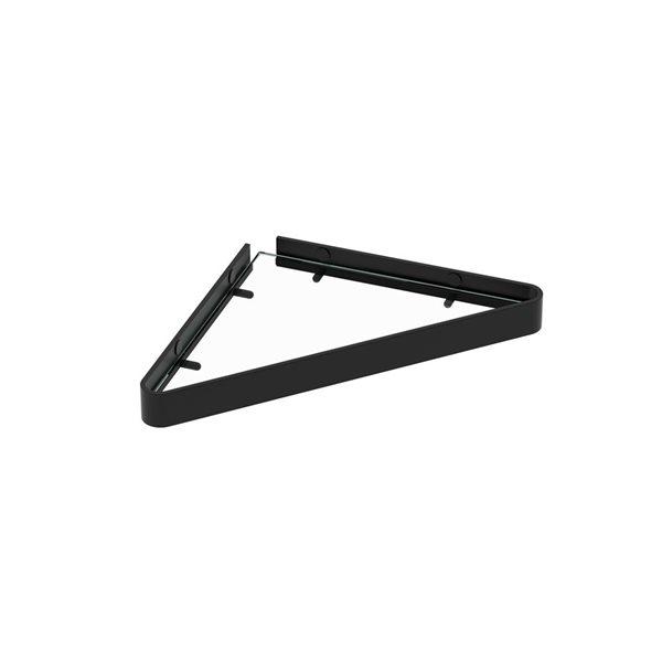 Étagère murale de salle de bain MAAX en verre, noire mate
