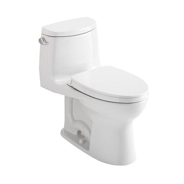 Toilette simple allongée de Toto Ultramax II, étiquetée Watersense, hauteur confort de 12 po (Blanc coton)