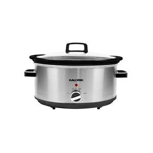 Kalorik 6.1-L Stainless Steel Oval 1-Vessel Slow Cooker