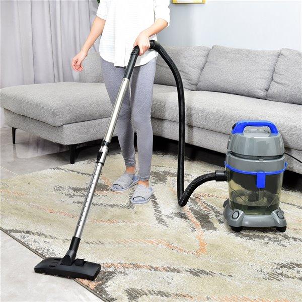 Aspirateur à filtration par eau avec brosse pour animal domestique de Kalorik Home, gris